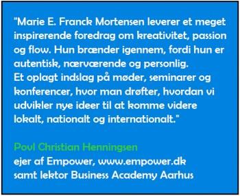 Omtale af Marie Elisabeths foredrag